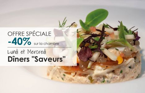 "Offer Mondays & Wednesdays ""Saveurs"""